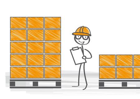 warehouseman: warehouseman checking stock levels