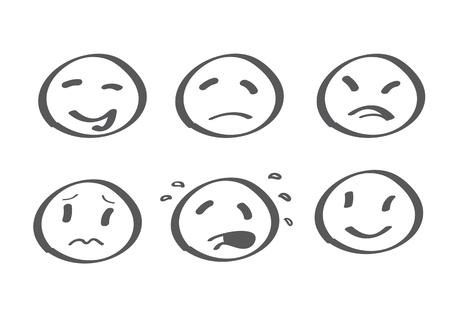verschillende emoties - cijfer van de stok stijl. vector illustratie Vector Illustratie
