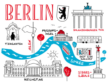 Berlin - the town's landmark - vector illustration