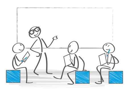 Business People on a Meeting Illustration