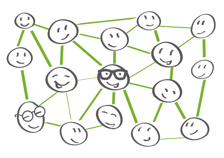 people network icons - vector illustration