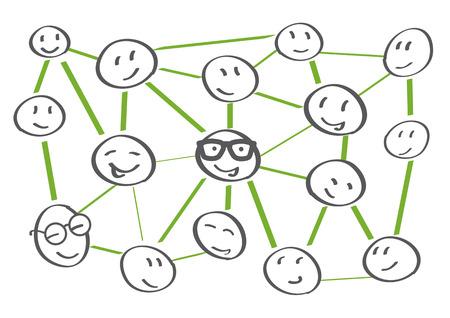 Leute Netzwerk-Icons - Vektor-Illustration