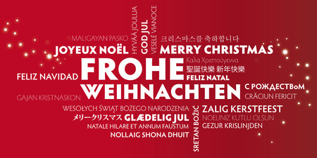 languages: merry christmas in different languages ??in