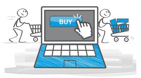 home finances: Online shopping ecommerce 24 hours customer support service  vector illustration Illustration