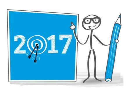 targets: 2017 targets - vector illustration Illustration