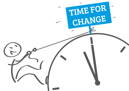 time for change - new habits vector illustration