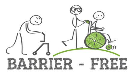 Barrierefrei - Rampe Weg für die Unterstützung Rollstuhl behinderte Menschen Standard-Bild - 69589722