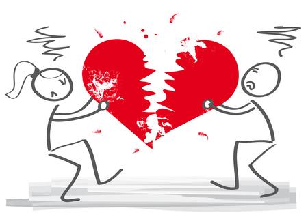 heart failure: Divorce. Wife and husband can not make settlement