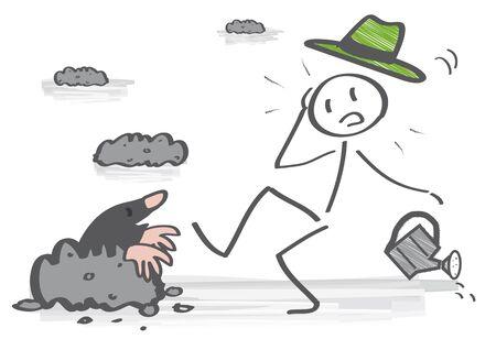 Gardener discovers a mole in his garden
