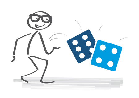 Take a chance - businessman throwing dice