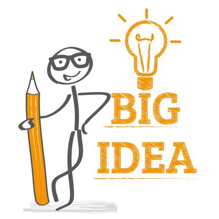 Big idea concept vector illustration Иллюстрация
