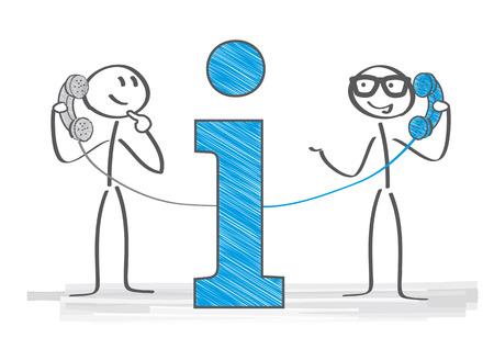 Hotline - Operator response answer customer or partner, vector illustration