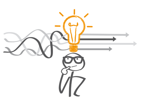 problem solving, complicated solution vector illustration