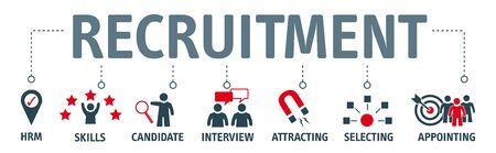 Banner recruitment concept.