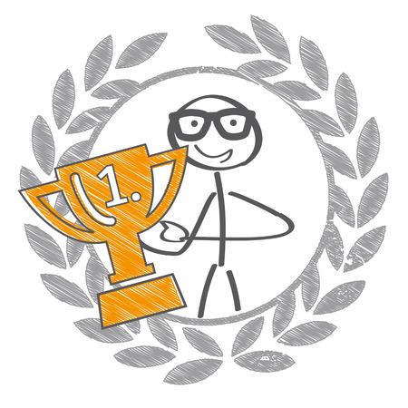 Ejemplo de copa de trofeo con corona de laurel