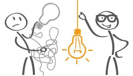 Conserva un concetto di business semplice per marketing, creatività, gestione del progetto. Illustrazione Vettoriale
