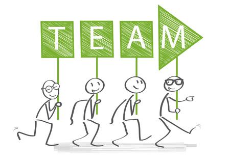 Leadership Boss Management Coach Chief vector illustration. Teamwork and Leadership concept Illustration