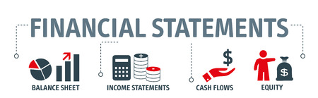 Banner financial statements concept vector illustration Banco de Imagens - 99833496