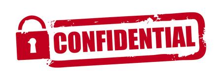 Confidential red grunge rubber stamp on white background. Vector illustration Illustration
