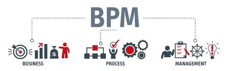 gestión de proyectos de negocios ilustración de vector de letras de negocios de empresa con iconos .
