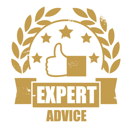 Stamp of expert advice word rubber stamp, Picture, Web, Art, Vector, Solid Version. Decision support. Employment services icon. Suggestion