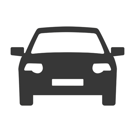 Car icon. Auto icon vector on white background. Vector illustration.