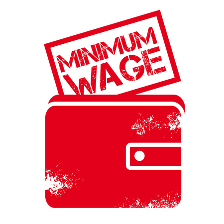 Minimum Wage red Rubber Stamp over a white background vector illustration