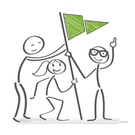 Collaboration d'équipe de travail d'équipe et atteindre les objectifs concept d'illustration vectorielle Vecteurs
