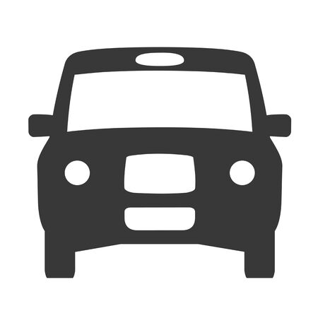 London taxi icon vector symbol template transportation. Black cab  イラスト・ベクター素材