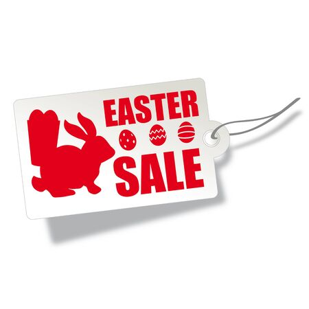 Easter Sale Label isolated on white background. Design banner, promotion, holiday decoration, special offer. Label tag discount.