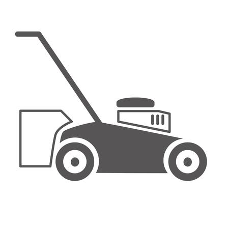 Lawn mower icon. Vector concept illustration for design on white background Vektorgrafik
