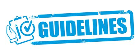 Guideline vector illustration concept. A guideline is a statement by which to determine a course of action