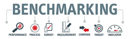 Benchmarking vector illustration concept. Idea of business development and improvement