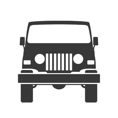 offraoad icon vector symbol logo template transportation. Black car