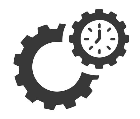 Efficiency vector design concept icon on white background - productivity and efficiency