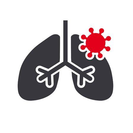 coronavirus lung disease vector icon concept internal organ disease Ilustração