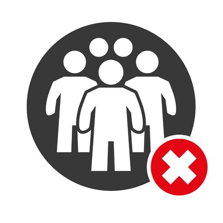 Avoid crowds - Social Distancing and physical distancing - Coronavirus Prevention Vector Illustration icon Ilustração