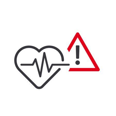 High blood pressure vector icon concept on white background. Medical pictogram Ilustración de vector