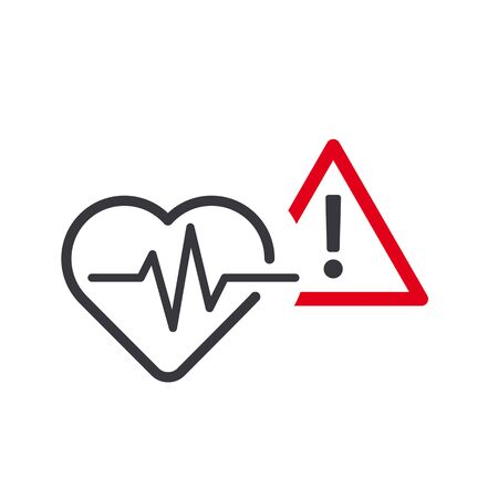 High blood pressure vector icon concept on white background. Medical pictogram