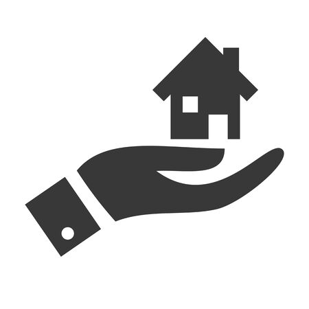 Symbol for property. Vector Icon. real estate, moving home or renting property