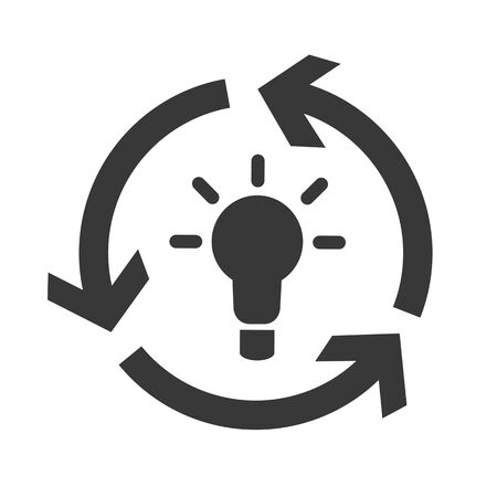 Brainstorm and think vector design concept icon on white background