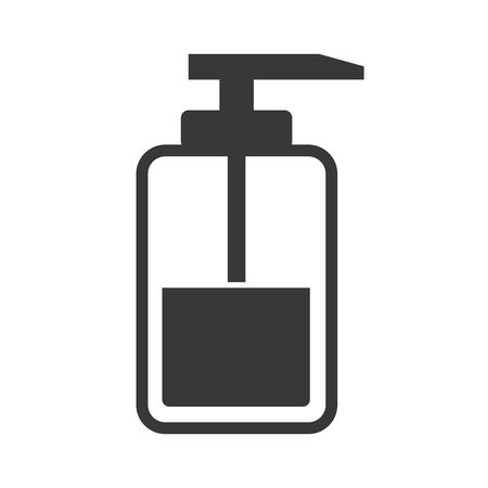 Vector icon  illustration of soap distributor. Hygiene home and personal hygiene concept Illustration