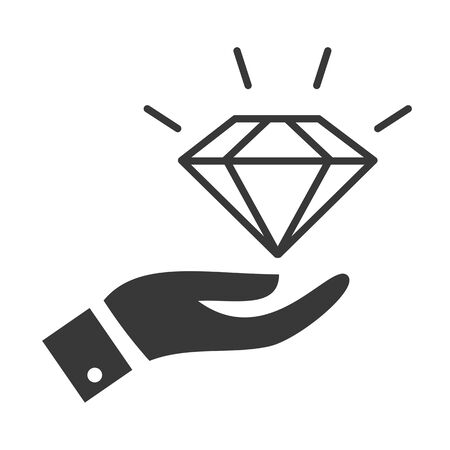 Diamond, quality, valuable, icon,  vector design concept icon on white background