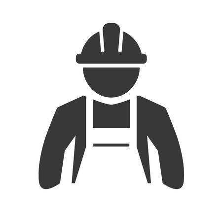 illustration of worker, builder and craftsman vector icon. Vector design concept on white background