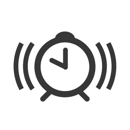 clock, alert and alarm vector design concept icon and pictogram on white background