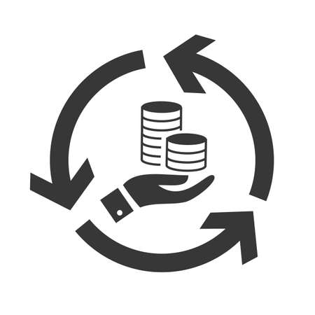 investment, credit and cash flow vector design concept icon on white background Ilustração