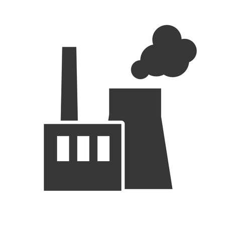 power station vector illustration design concept icon on white background