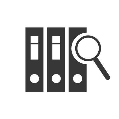 Audit and examination icon. Vector illustration concept on white background Ilustração