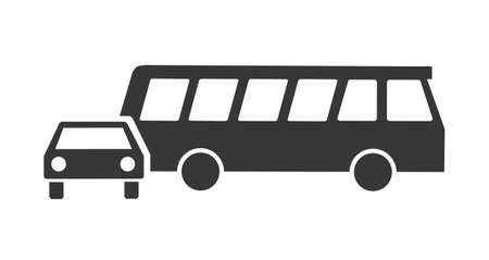Cars transportation vector icons silhouette. Vector illustration concept on white background