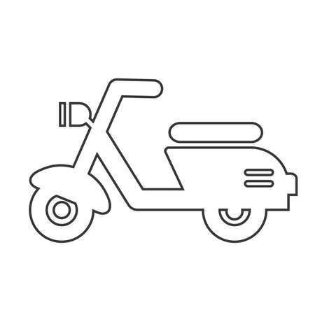 motor scooter linear icon. Delivery, transport symbol icon. Pictogram isolated on white background. Vector illustration concept